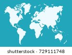 color world map | Shutterstock .eps vector #729111748