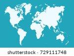color world map | Shutterstock .eps vector #729111748