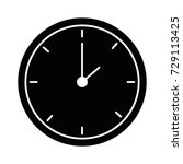 time clock isolated icon | Shutterstock .eps vector #729113425