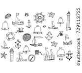 marine subjects vector... | Shutterstock .eps vector #729113722