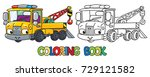funny small tow truck with eyes.... | Shutterstock .eps vector #729121582