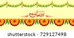illustration of flower garland... | Shutterstock .eps vector #729127498