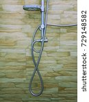Small photo of Shower Faucet Abstract Number, Numbers 6, 7 and 8 Image Background