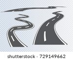 road with white stripes on a...   Shutterstock .eps vector #729149662