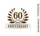60 years anniversary logo... | Shutterstock .eps vector #729150106
