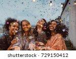four beautiful women standing... | Shutterstock . vector #729150412