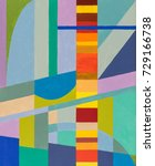 An Abstract Painting With A...
