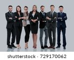 group of smiling business... | Shutterstock . vector #729170062