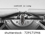 content is king typed words on... | Shutterstock . vector #729171946