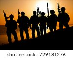 Army Soldiers With Rifles...