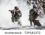 team squad of special forces in ... | Shutterstock . vector #729181372