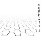 hexagonal grid in perspective.... | Shutterstock .eps vector #729182218