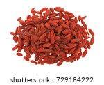 top view of a small pile of... | Shutterstock . vector #729184222