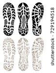 footprint sport shoes big... | Shutterstock .eps vector #729194518