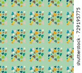 new color seamless pattern with ... | Shutterstock . vector #729195775