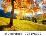 magic image of sunny hills in... | Shutterstock . vector #729196372