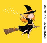 wizard girl vector | Shutterstock .eps vector #729202705