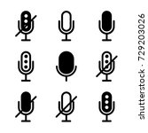 microphones icon set | Shutterstock .eps vector #729203026