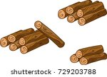 cartoon vector sawed woods art. ...