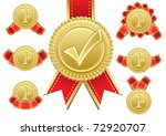gold award | Shutterstock .eps vector #72920707