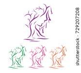 face tree logo | Shutterstock .eps vector #729207208