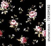 flowers pattern.for textile ... | Shutterstock . vector #729209182