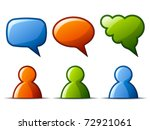 vector glossy figures and... | Shutterstock .eps vector #72921061