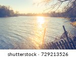 Bare Winter And Sunset At The...