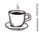 coffee cup doodle  | Shutterstock .eps vector #729219742