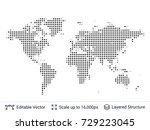 world map silhouettes.... | Shutterstock .eps vector #729223045