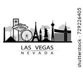 las vegas iconic on strip city... | Shutterstock .eps vector #729226405