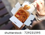 chinese noodles in box with...