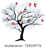 vector illustration of a winter ...   Shutterstock .eps vector #729239776