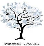 vector illustration of a winter ...   Shutterstock .eps vector #729239812