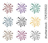patriotic fireworks icon in... | Shutterstock .eps vector #729255022