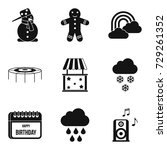 early childhood icons set.... | Shutterstock .eps vector #729261352
