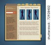 vector web site template | Shutterstock .eps vector #72928402