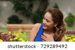 attractive female laughing | Shutterstock . vector #729289492