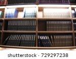 blur book shelf and books in... | Shutterstock . vector #729297238