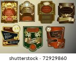 vector set selection of labels...   Shutterstock .eps vector #72929860