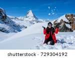 young woman tourists playing...   Shutterstock . vector #729304192