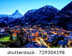 beautiful view of old village... | Shutterstock . vector #729304198