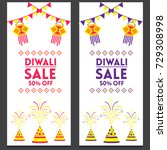 creative sale banner or sale... | Shutterstock .eps vector #729308998