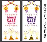 creative sale banner or sale... | Shutterstock .eps vector #729308998