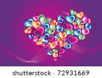hearts background vector | Shutterstock .eps vector #72931669