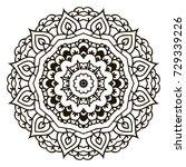 mandala. black and white... | Shutterstock . vector #729339226