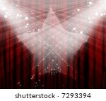 movie or theatre curtain with... | Shutterstock . vector #7293394
