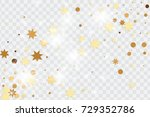 vector golden isolated confetti ... | Shutterstock .eps vector #729352786