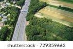 aerial bird view photo of three ... | Shutterstock . vector #729359662
