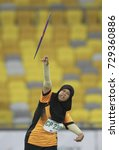 Small photo of KUALA LUMPUR, MALAYSIA 21 SEPTEMBER 2017 : Para ASEAN athletes in action in the Category Javelin Throw at the 9th PARA ASEAN Games 2017 at the Atlantik Stadium Bukit Jalil, Kuala Lumpur.